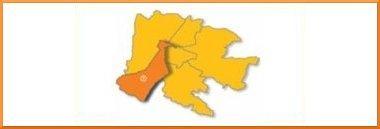 Mappa quartiere 5 Sud-Ovest 380 ant