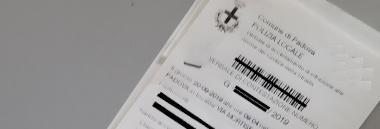 Multa multe verbale violazione codice strada atto documento polizia 380 ant