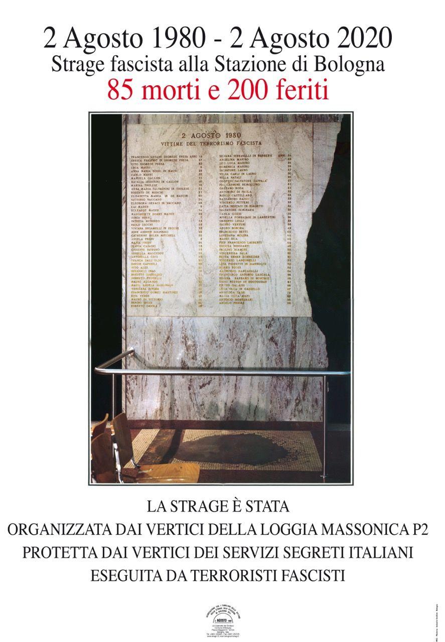 40° anniversario della strage alla Stazione di Bologna