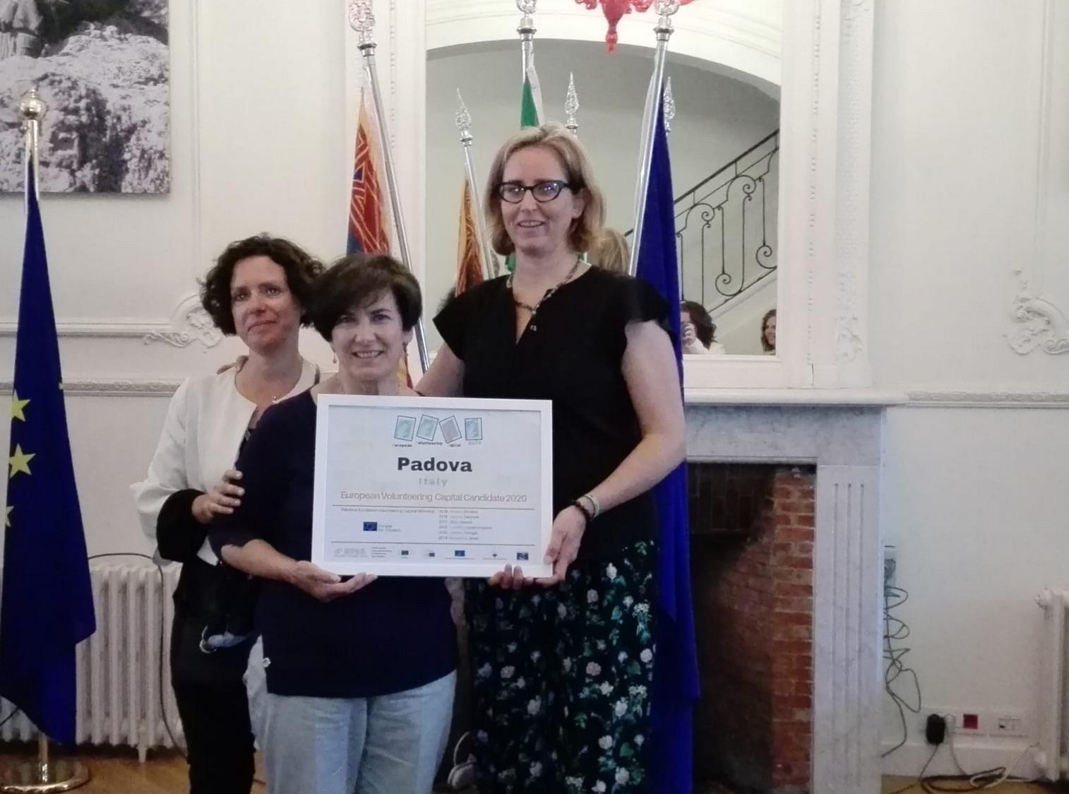 Assessore Cristina Piva candidatura di Padova a Capitale europea del volontariato 2020