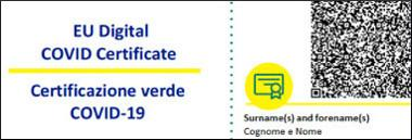 certificazione verde green pass covid